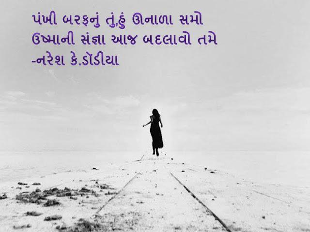 Pankhi Baraf Nu Tu Sher By Naresh K. Dodia