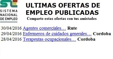 Rute, Córdoba. Lanzadera de Empleo Virtual. Sistema Nacional de Empleo
