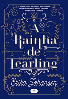 Capa do livro A Rainha de Tearling de Erika Johansen