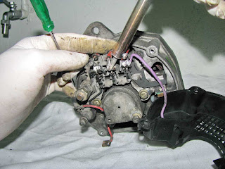 alternador Valeo 436193 desoldar diodos bobinado del estator