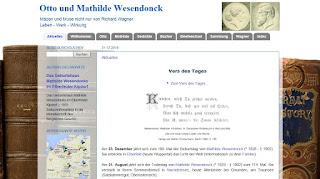 Blog Otto und Mathilde Wesendonck - www.wesendonck-wagner.de