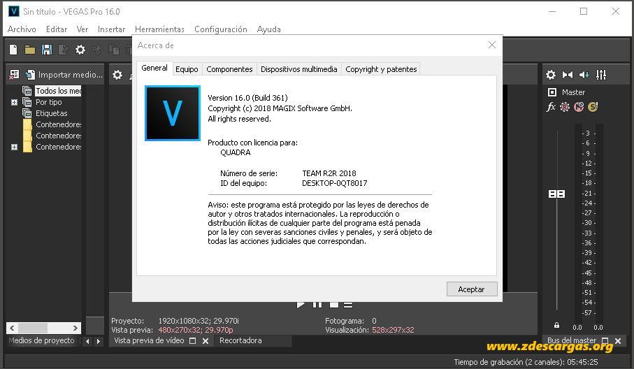 MAGIX VEGAS Pro 16 Full Español