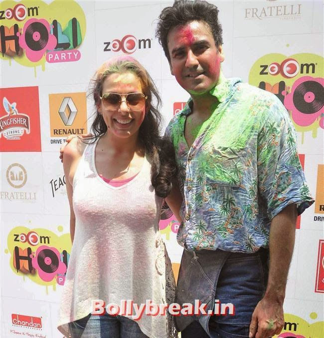 Pooja Bedi and Karan Oberoi, Sunny, Tanisha, Poonam & Kainaat at Zoom Holi Party 2014