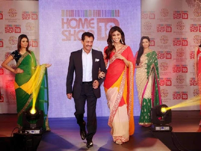 HomeShop18 Launches Designer Sarees By Shilpa Shetty Kundra