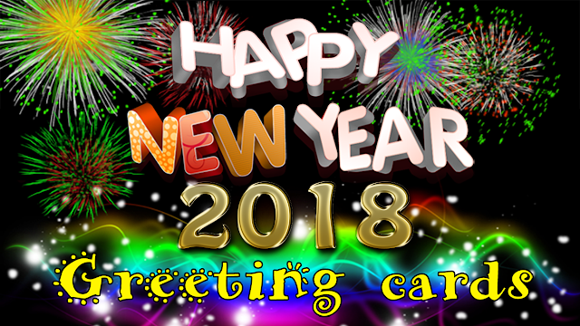 Happy New Year 2018 HD Cards
