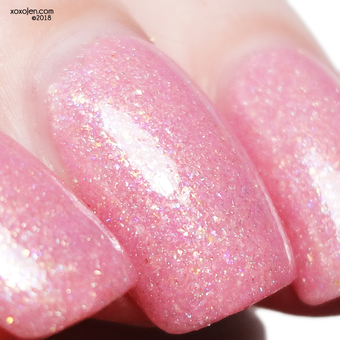 xoxoJen's swatch of Wildflower Lacquer Your Princess Is In Another Castle inspired by Princess Peach
