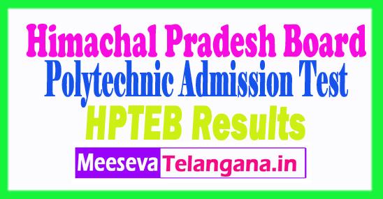 Himachal Pradesh Polytechnic Admission Test  Result 2018