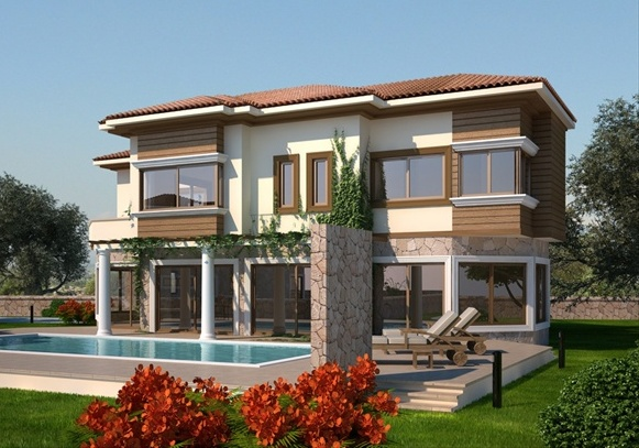 New home designs latest modern villas exterior designs for Home exterior design ideas photos