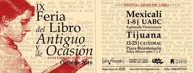 feria del libro antiguo y de ocasión tijuana mexicali 2016