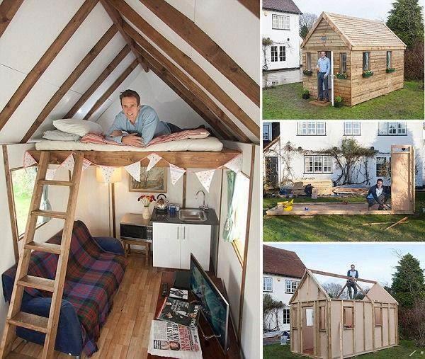 construir una mini casa de madera en el jard n construccion y manualidades hazlo tu mismo. Black Bedroom Furniture Sets. Home Design Ideas