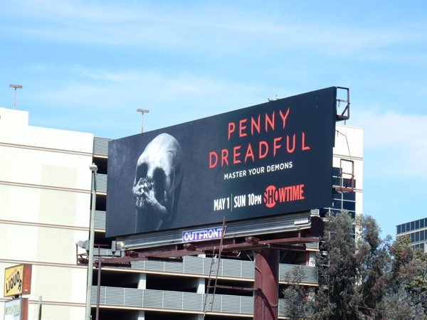 Penny Dreadful season 3 body skull billboard