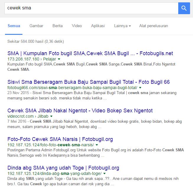 hasil pencarian keyword cewek SMA