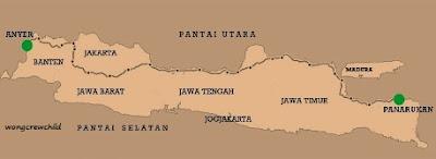 gambar peta monumen 1000 km anyer panarukan