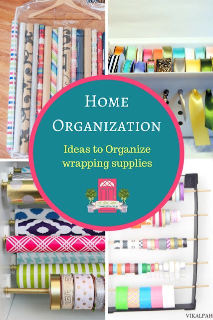 Ideas to organize wrapping supplies