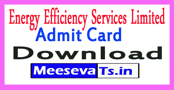 Energy Efficiency Services Limited EESL AE Admit Card Download 2017
