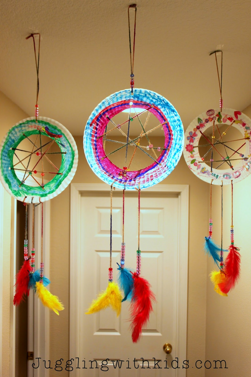 Juggling With Kids The Ultimate Guide To Feathers And Our Dream Catcher Craft