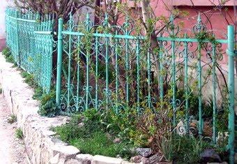 Решетка с ограды храма Александра Невского в Симферополе