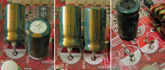 Замена электролитических конденсаторов без выпаивания
