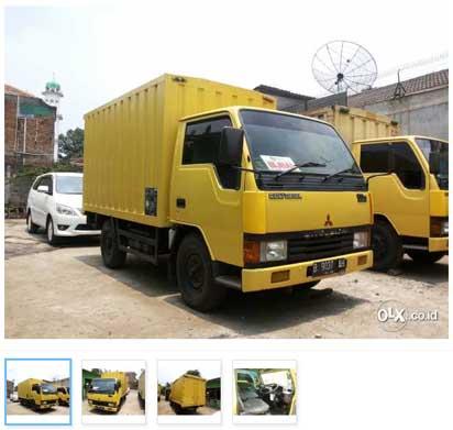 Mobil Bekas Mitsubishi Colt Diesel 4 Roda Box Container