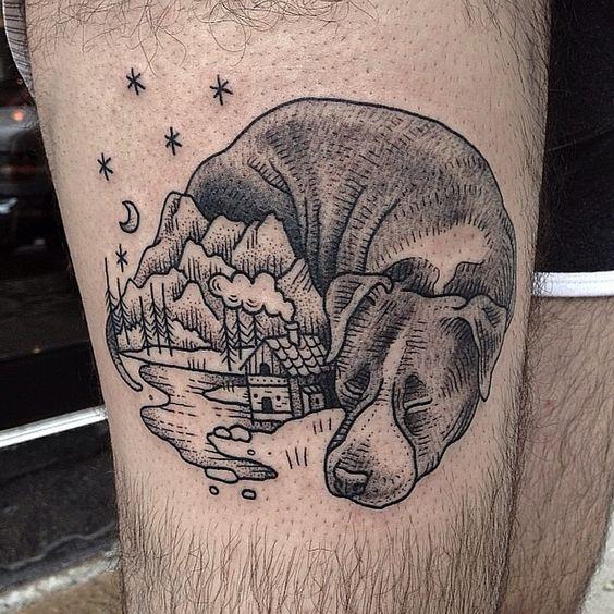 Dog Tattoos Design For Men