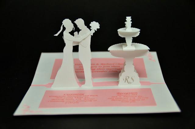 Thiệp cưới, Thiệp cưới 3D, Mẫu thiệp cưới 3D