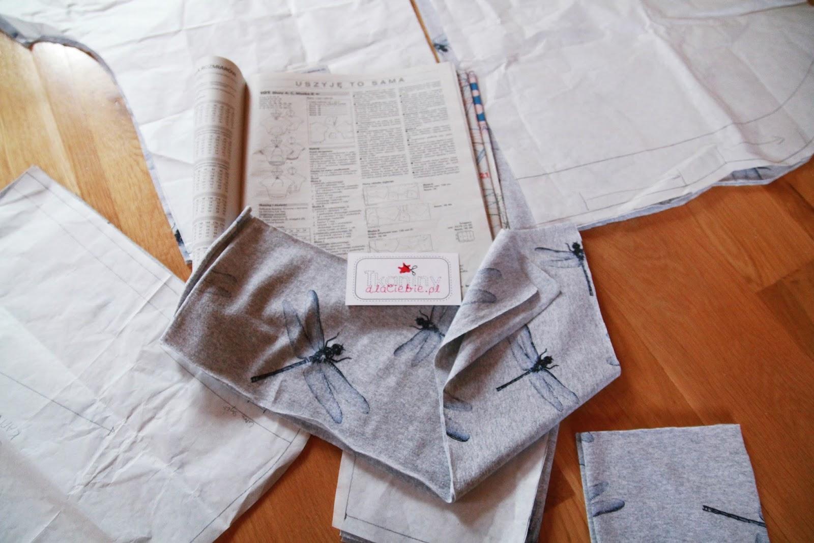 Bluza oversize w ważki
