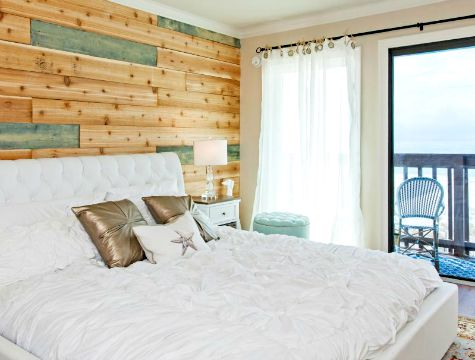Wood Panel Accent Wall Bedroom