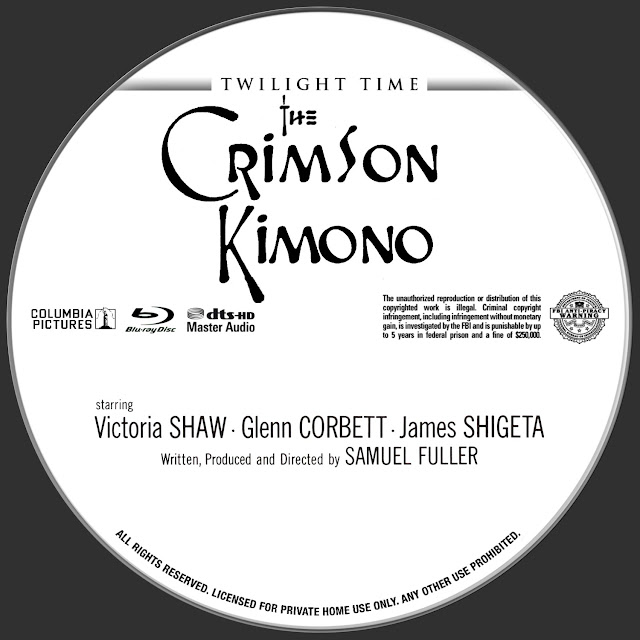 The Crimson Kimono (1959) Bluray Label