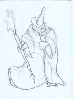 Stylized Wizard drawing