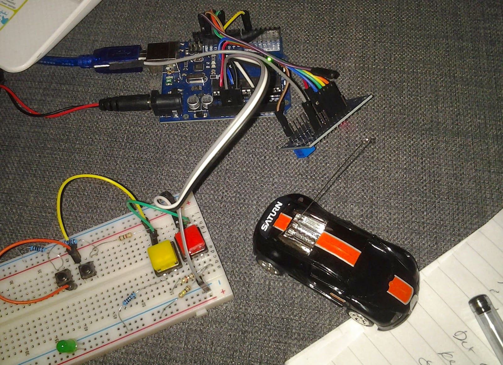 Learn on the fly : Controlling a 27mhz remote control car with