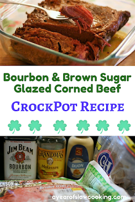 Corned Beef cooked in the crockpot is a no-brainer. It's moist, delicious, and quite simply the absolute best way to make corned beef. And if you're going to make corned beef, you might as well glaze it with one of the best flavor combinations in the whole world: brown sugar and bourbon! :-)