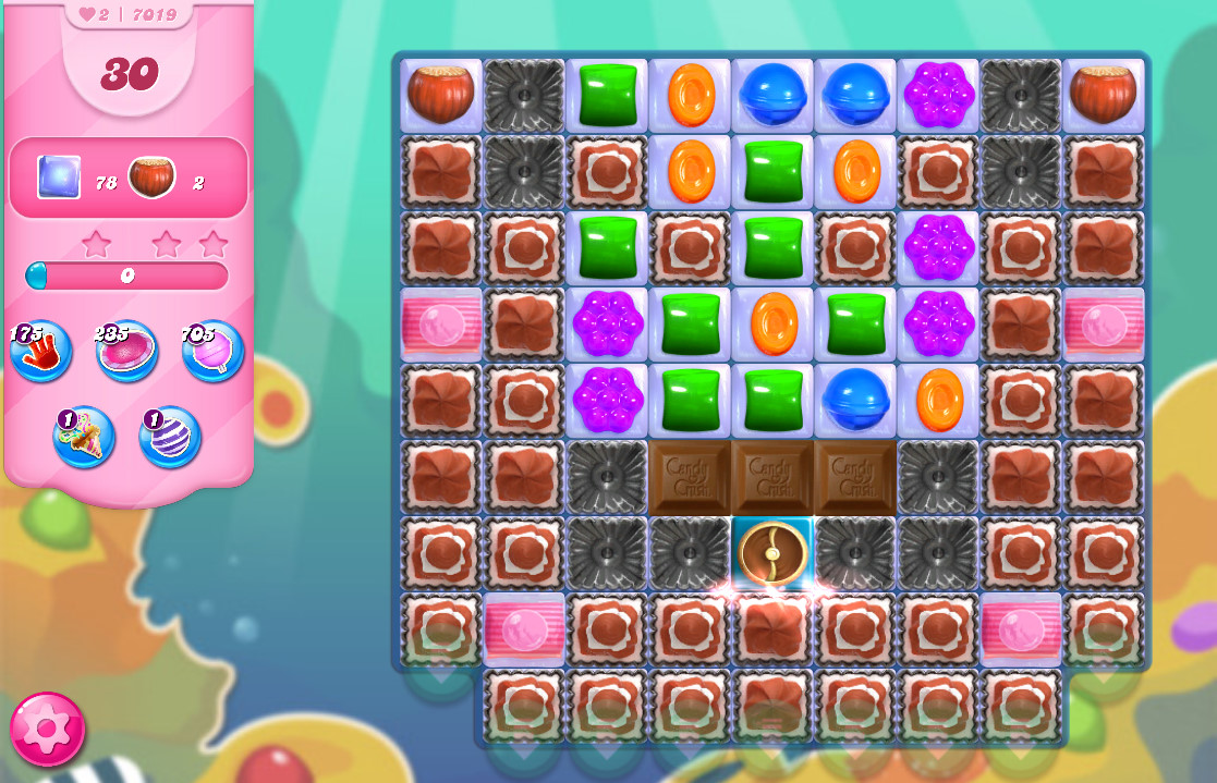 Candy Crush Saga level 7019