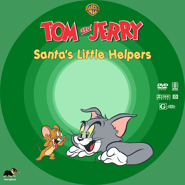 Tom and Jerry: Santa's Little Helpers DVD Label