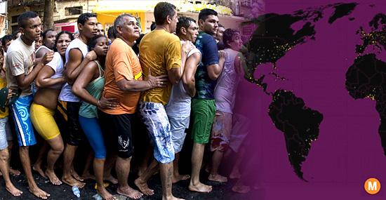 Metade da população mundial vive em apenas 1% do território do planeta