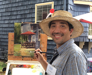Zufar Bikbov, of Oakville, CT, is the Pomperaug Outdoor Painters guest teacher September 10th at Bent of the River Audubon Center in Southbury.