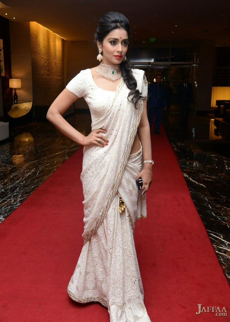 white designer saree