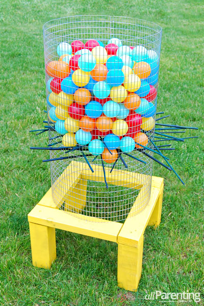 Backyard ker plunk yard game