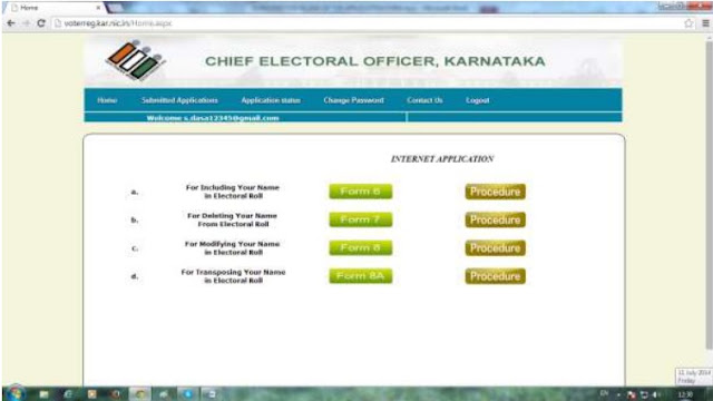 Procedures to Fill the Karnataka Voter ID Application