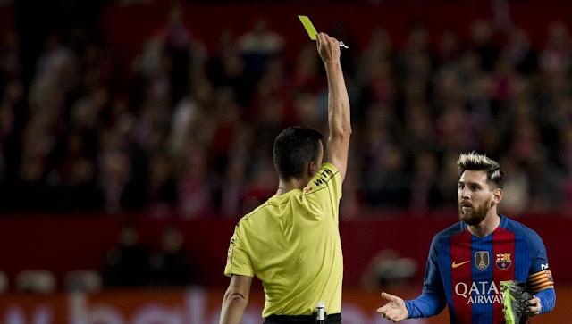 El Barça recurre la tarjeta amarilla de Messi