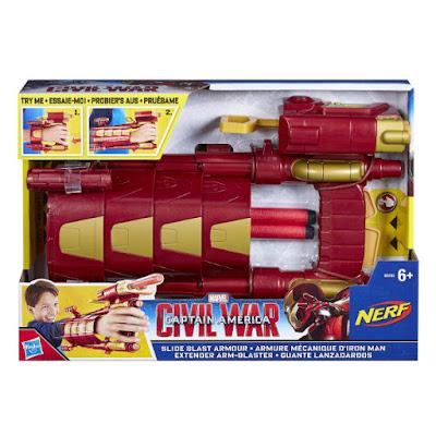 TOYS : JUGUETES - NERF   Marvel Capitan America 3 Civil War  Guante Lanzadardos de Iron Man  Película 2016 | Hasbro B5785 | A partir de 6 años  Comprar en Amazon España