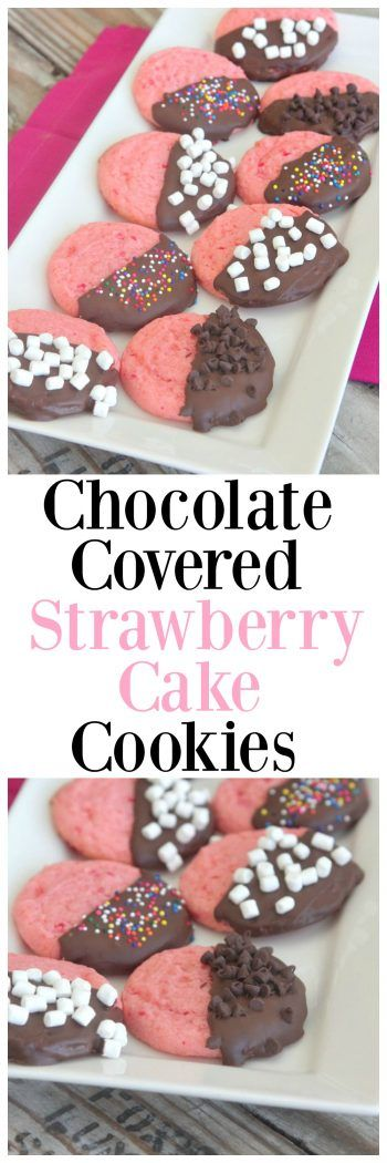 Chocolate Covered Strawberry Cake Cookies