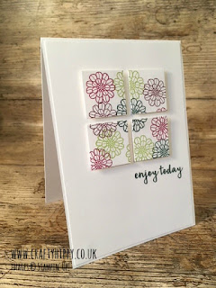 Quarter Card made using Touches of Texture by Stampin' Up!