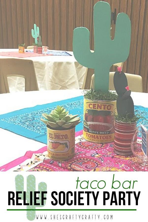 Taco Bar Relief Society Activity Idea - Taco 'Bout Fun meet and greet idea