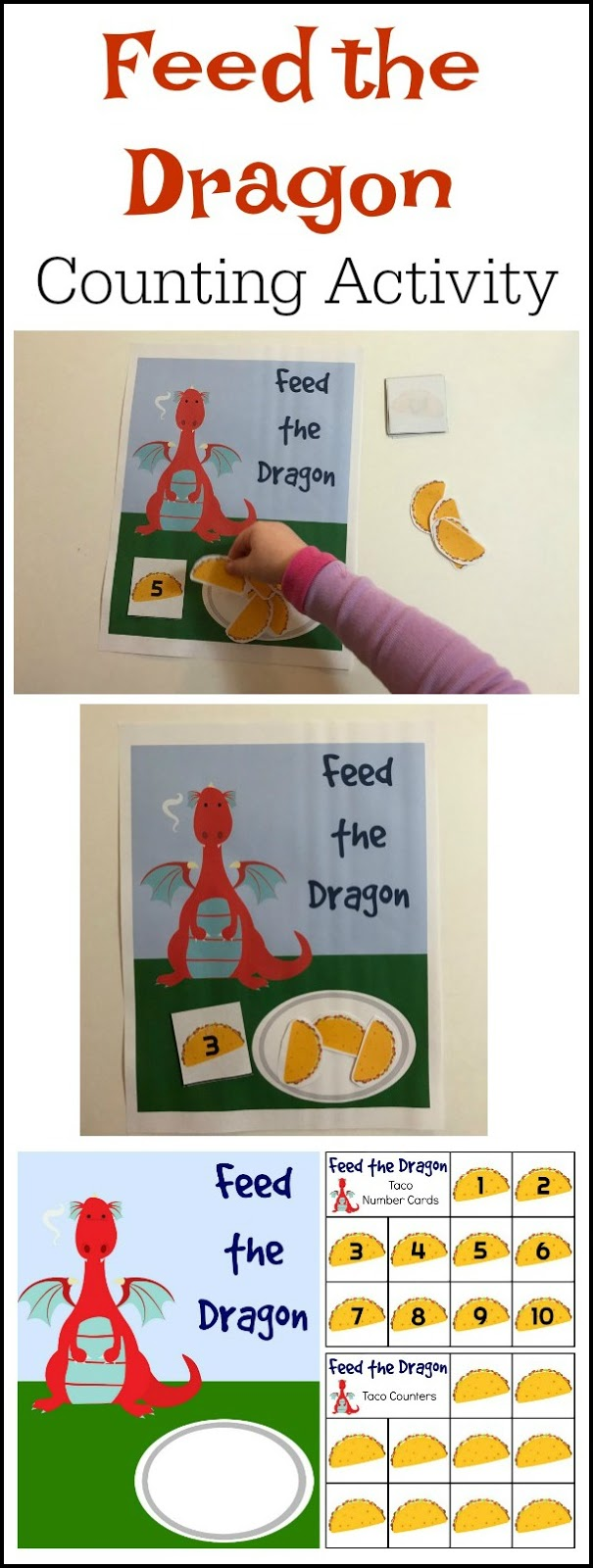 Crayon Freckles Dragons Love Tacos Math Activity For Kids