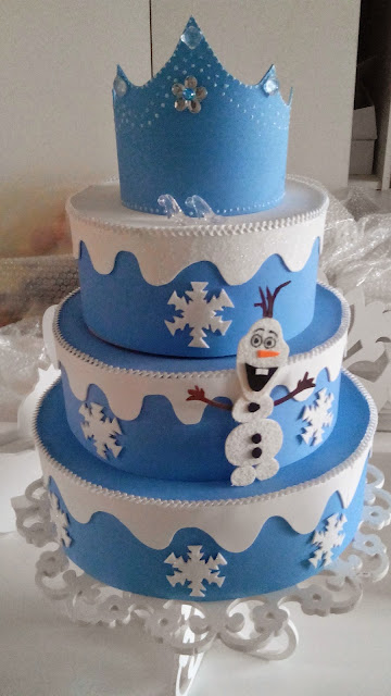 Bolos falso frozen para Festa Infantil