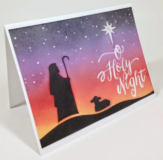 Close To My Heart Artfully Sent Cricut cartridge Holy Night Christmas card sideview