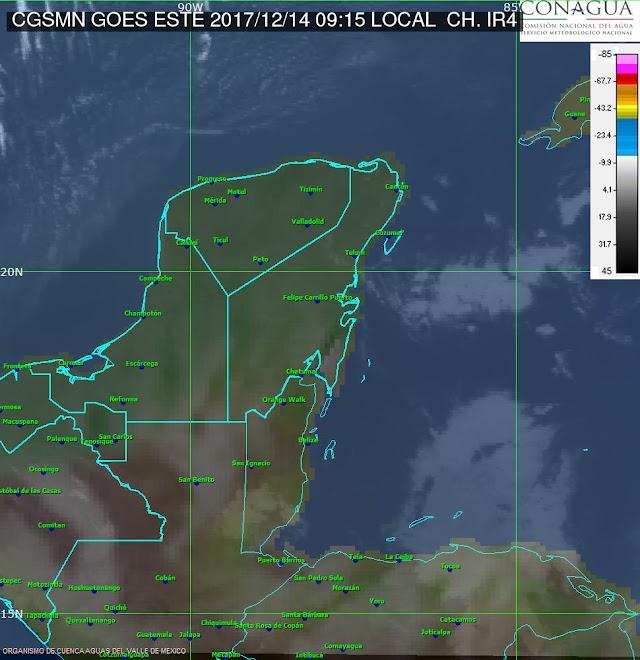 Fría mañana en Oxkutzcab: registra 8 grados