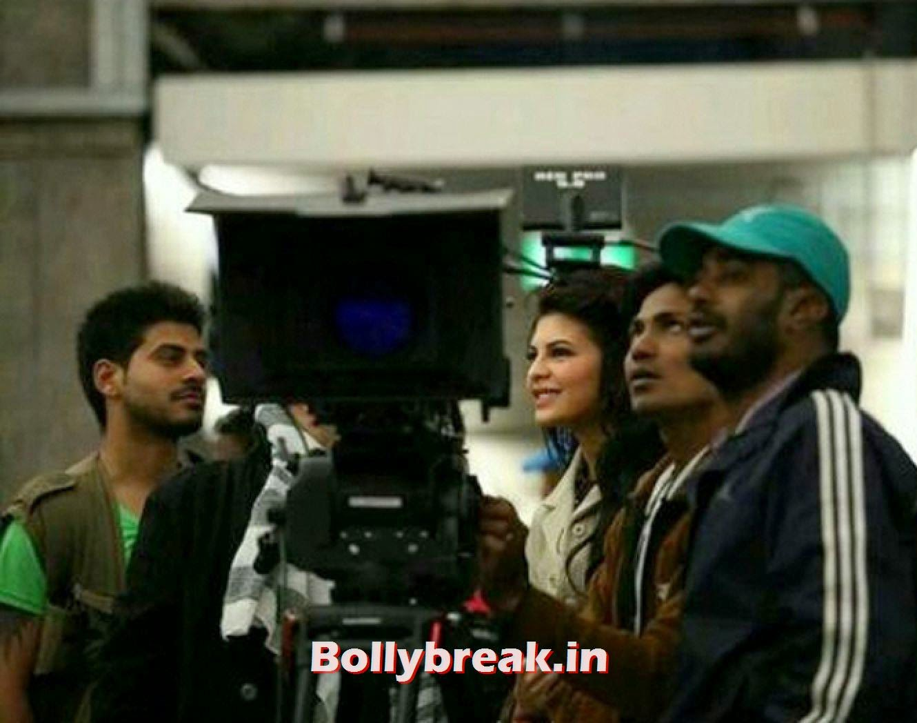 , Jacqueline Fernandez snapped on the sets of Kick in Poland