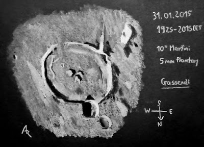 Lunar Crater Gassendl Sketched by Achim Rohe