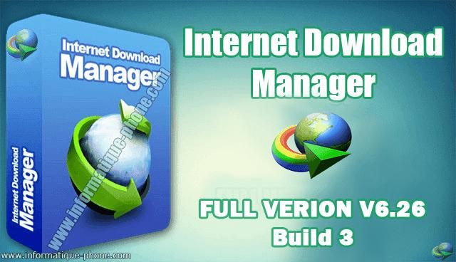 تحميل برنامج IDM ادمان مجانا مع تفعيل - Internet Download Manager 6.26 crack